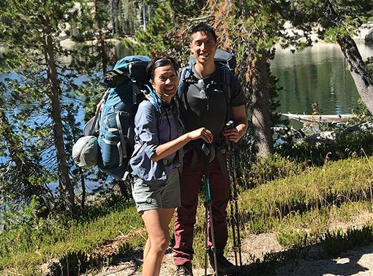 patient backpacking after spine surgery