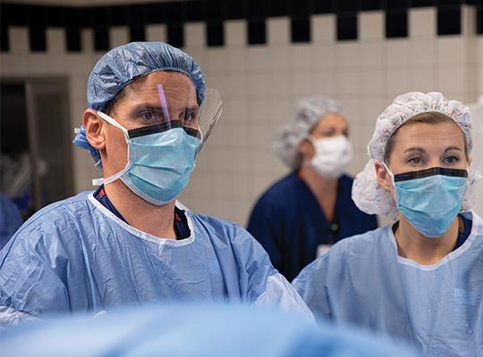 Dr. Adam Yanke in operating room