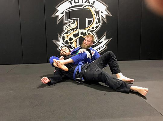 Patrick Sumara performing Jiu-Jitsu movement